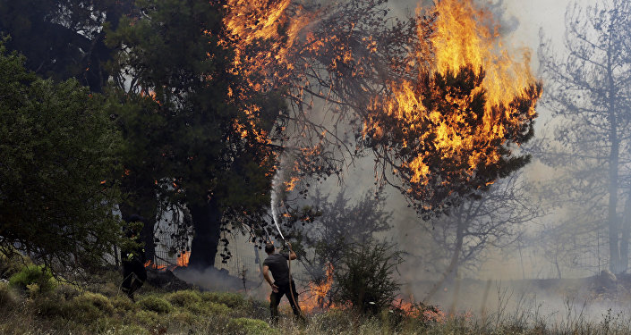 incendies en Grèce