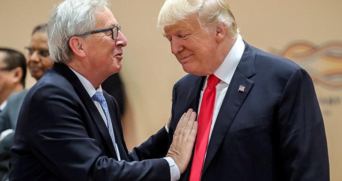 Jean-Claude Juncker et Donald Trump