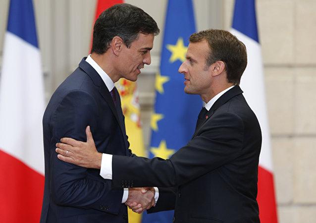 Emmanuel Macron et Pedro Sanchez