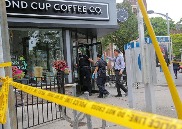 Police à Toronto, le 23 juillet, 2018