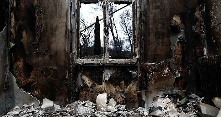 Les conséquences des feux de forêts dans le sud-est de la Grèce