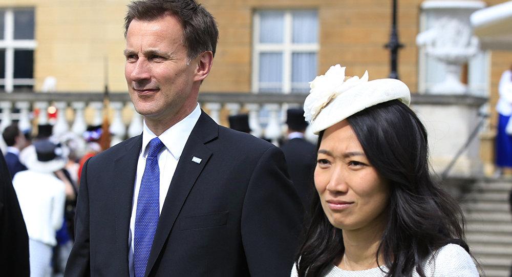 Jeremy Hunt et sa femme Lucia