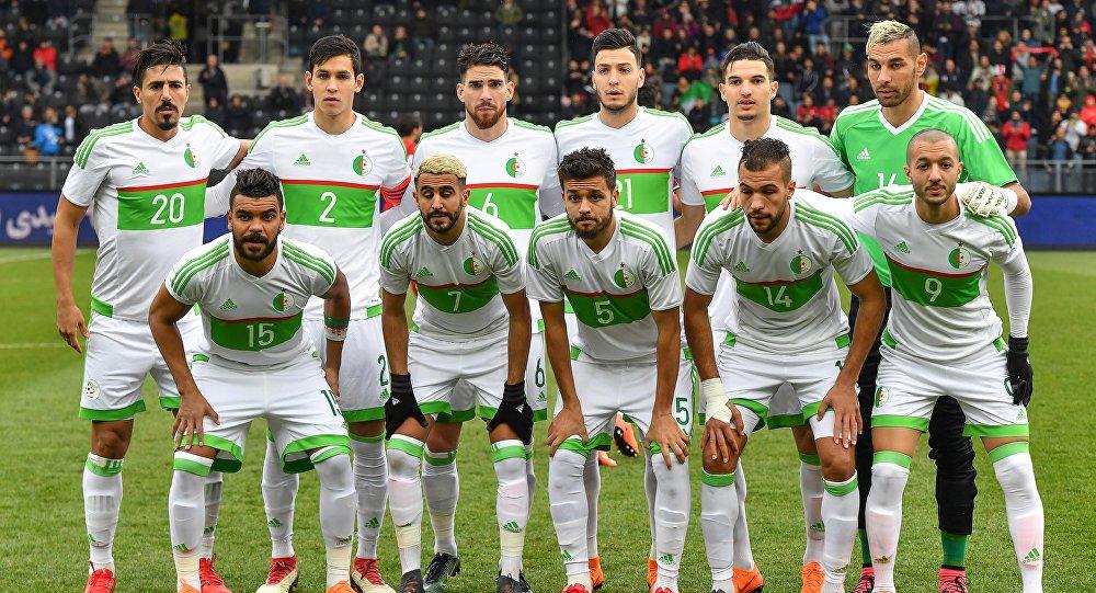 Membres de l'équipe de foot algérienne