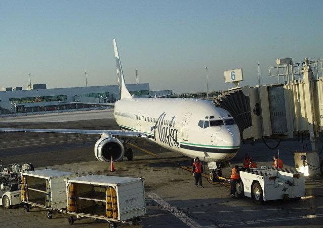 Un avion de la compagnie Alaska Airlines