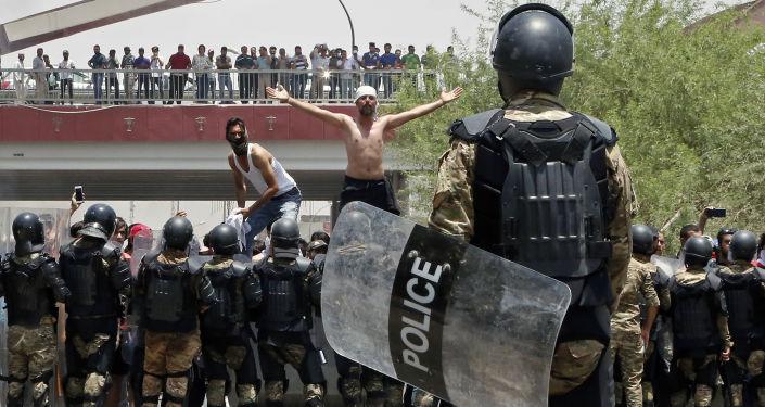 Manifestations dans le sud de l'Irak