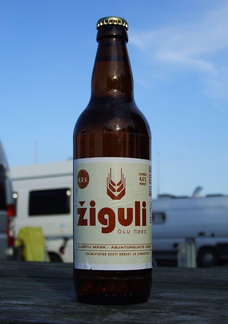 Bière Jigoulevskoïe destinée à l'exportation