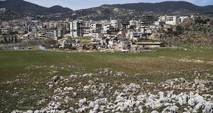 La ville de Masyaf dans la province syrienne de Hama