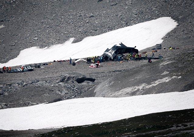 Crash d'un avion Junkers JU52 en Suisse