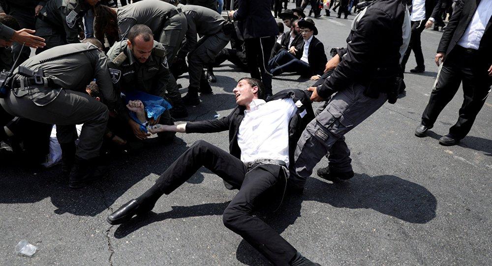 Une manif de juifs ultra-orthodoxes à Jérusalem