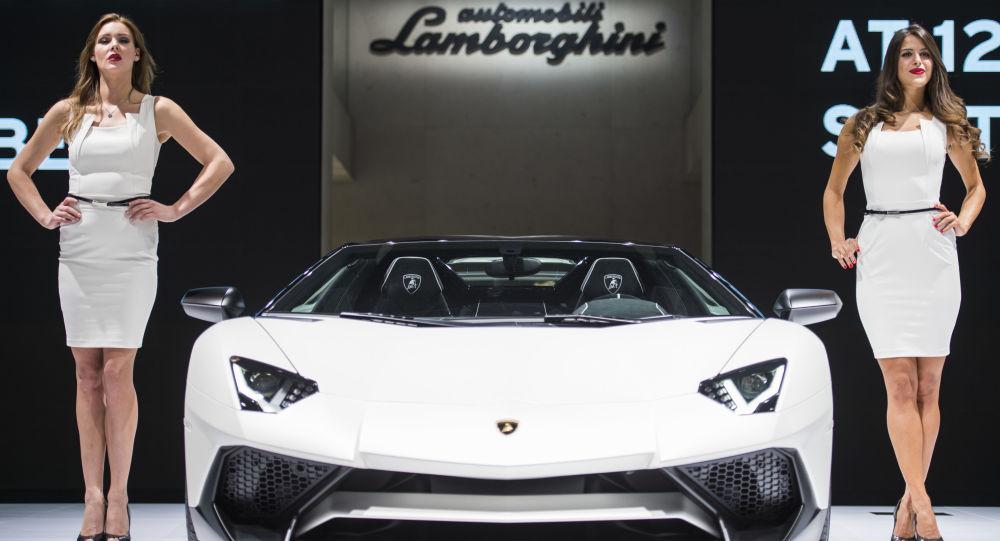 Une Lamborghini lors d'une présentation en Allemagne