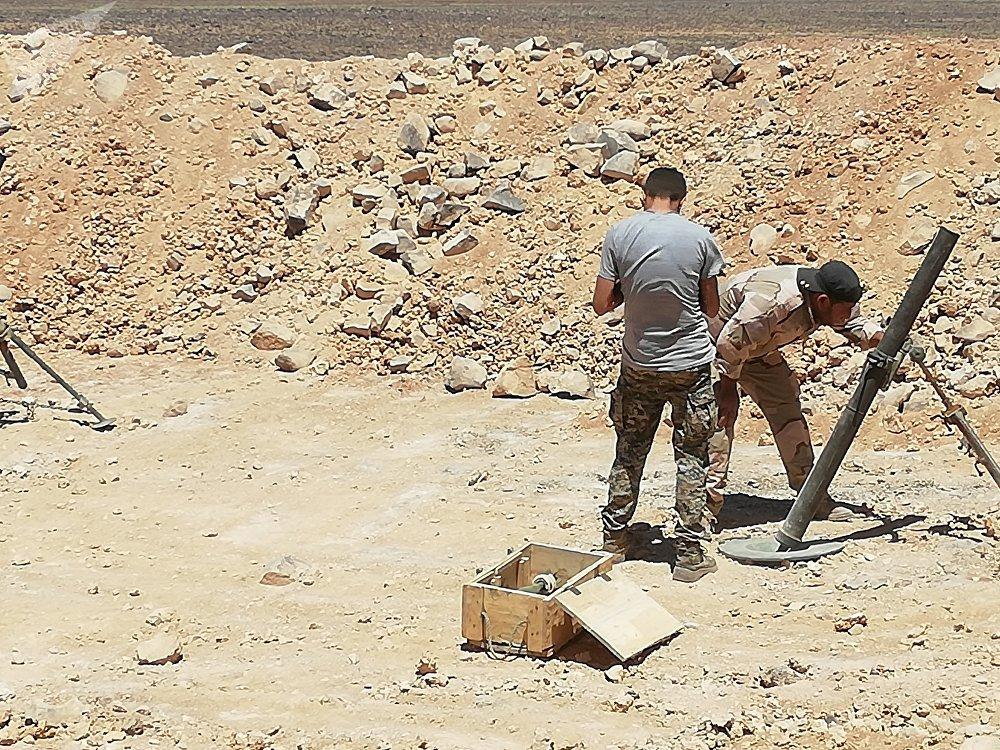 Les militaires syriens dans le gouvernorat de Soueïda