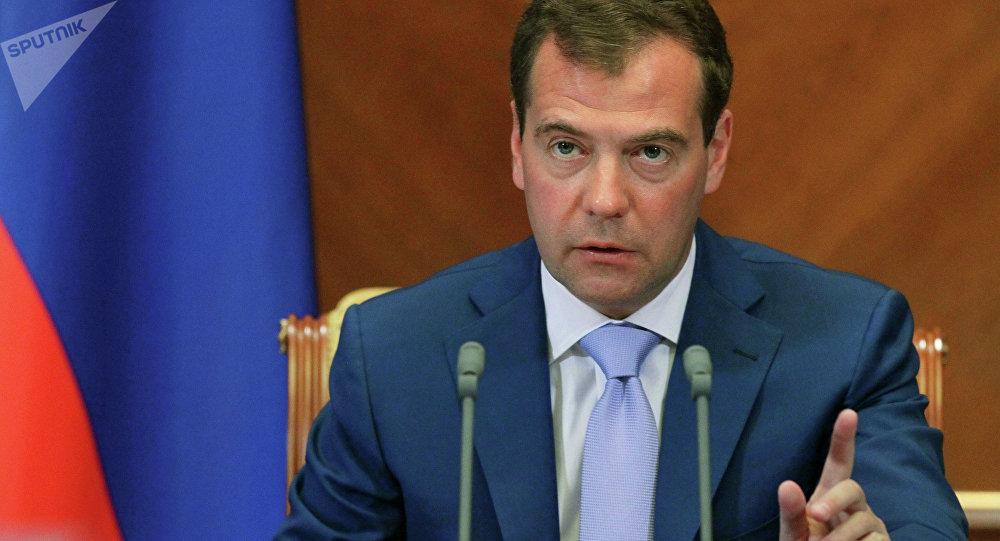 Le Premier ministre russe Dmitri Medvedev