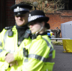 La police britannique à Salisbury