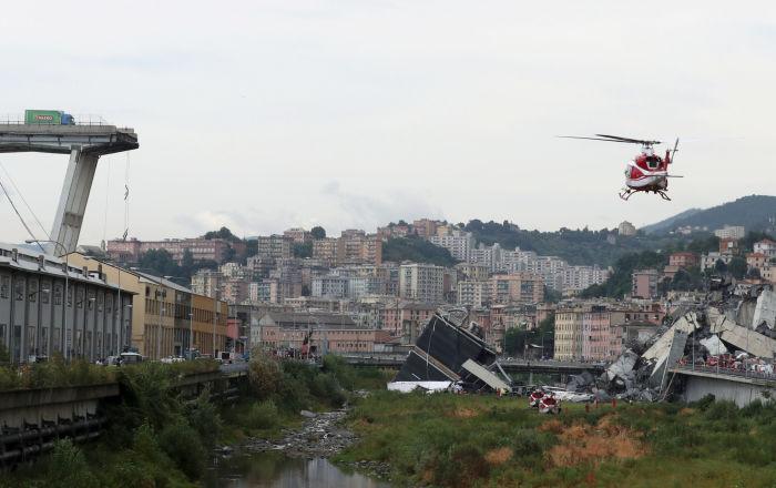 L'effondrement d'un viaduc près de Gênes