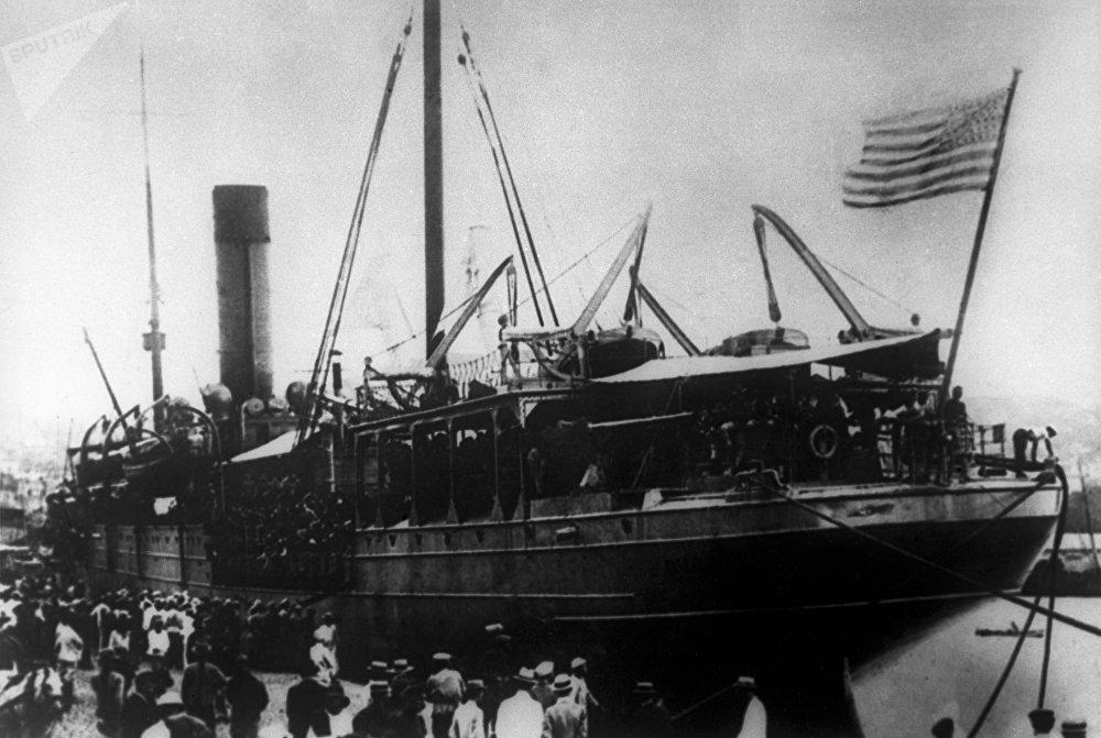Le débarquement des troupes américaines à Vladivostok, 1918