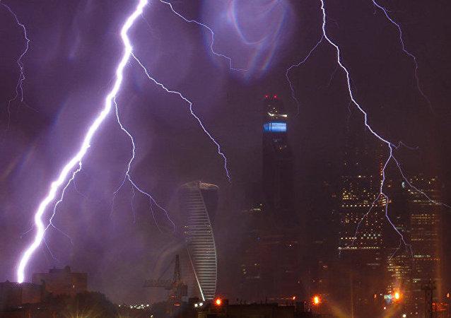 Un orage à Moscou