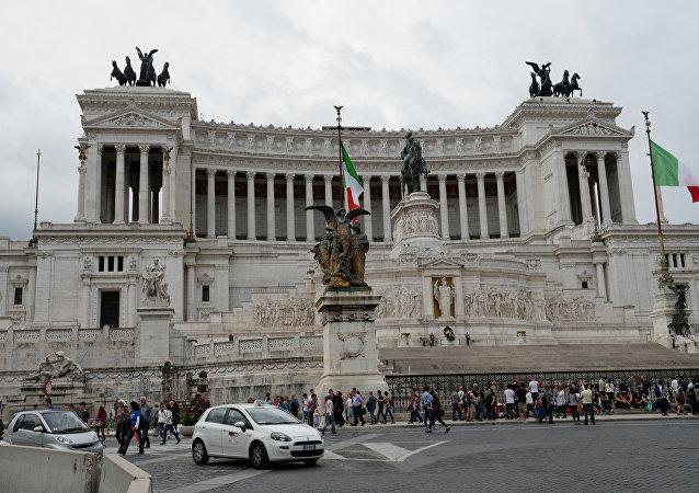 La Piazza Venezia à Rome
