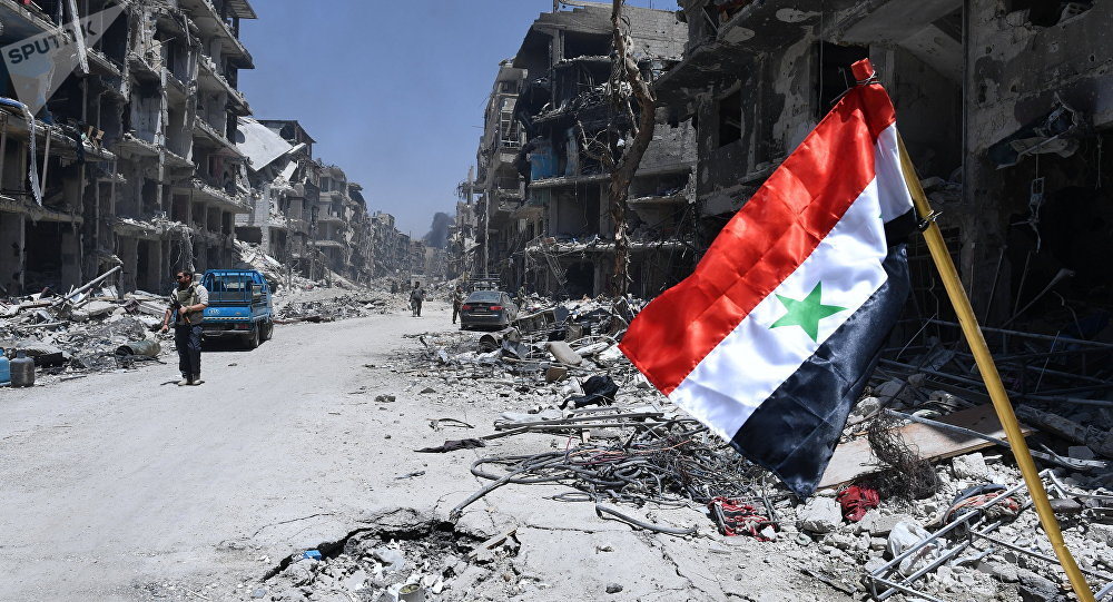 Un quartier du sud de Damas, image d'illustration