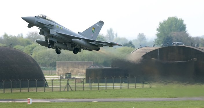 Un Eurofighter Typhoon britannique