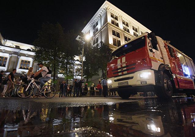 Dans la capitale russe, le bâtiment de la Banque centrale a été pris par les flammes ce vendredi dans la soirée