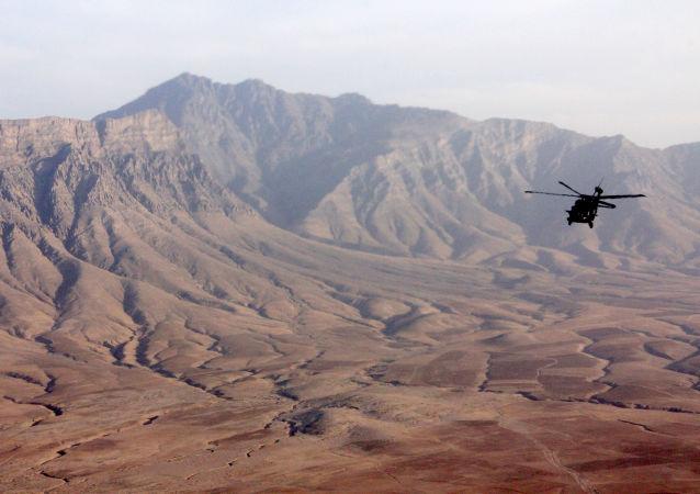 Un hélicoptère en Afghanistan (image d'illustration)