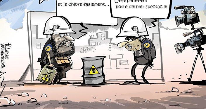 La mise en scène d'une attaque chimique en Syrie