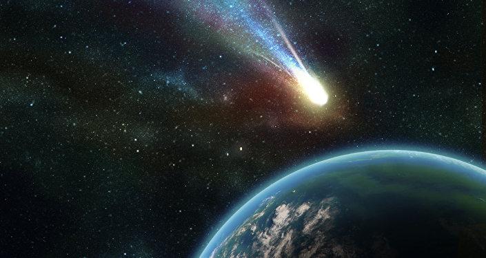 Un astéroïde s'approche de la Terre (image d'illustration)