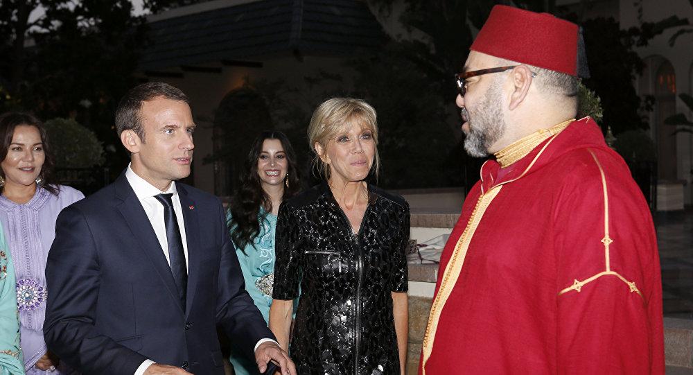 Le Président Emmanuel Macron et le Roi du Maroc Mohammed VI à Rabat