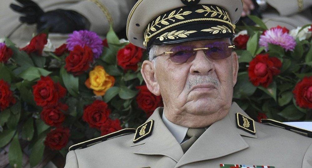 Le général de corps d'armée Ahmed Gaid Salah, le chef de l'état-major de l'ANP