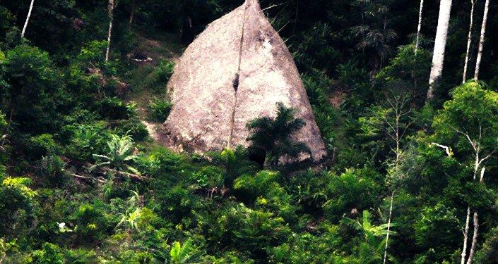 Une habitation indigène découverte lors d'une expédition de la FUNAI