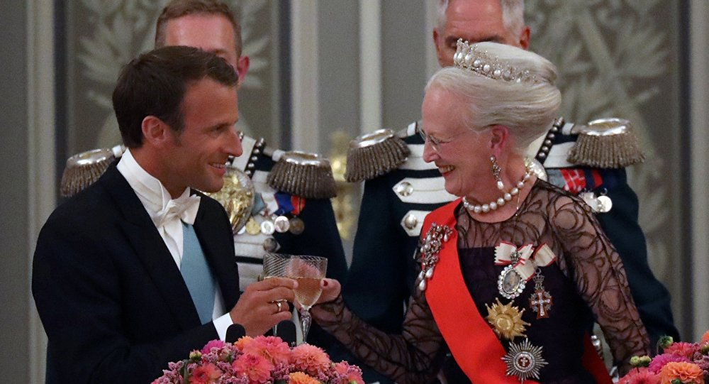 La reine du Danemark et Emmanuel Macron