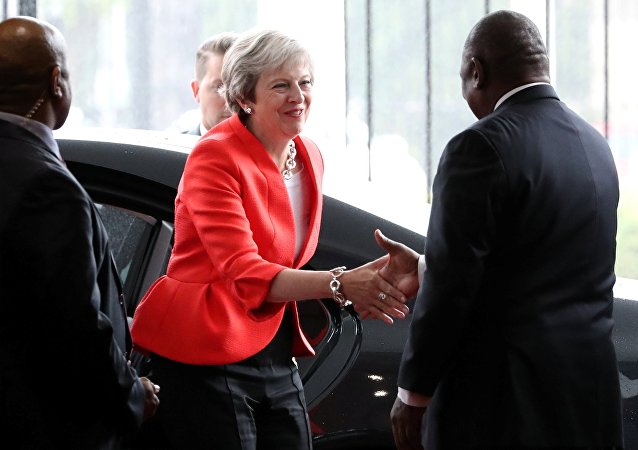Theresa May et Cyril Ramaphosa