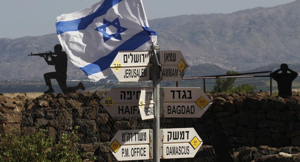 Drapeau israélien dans la zone du Golan