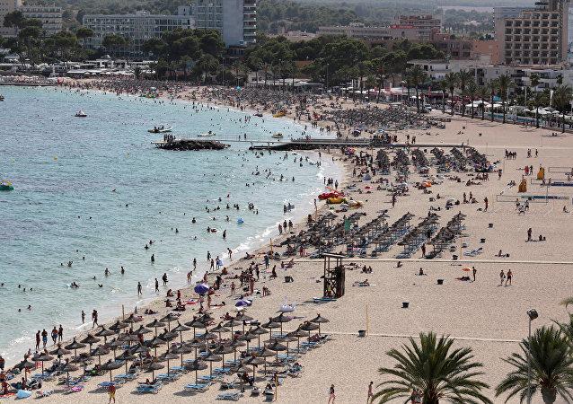 Touristes à Majorque