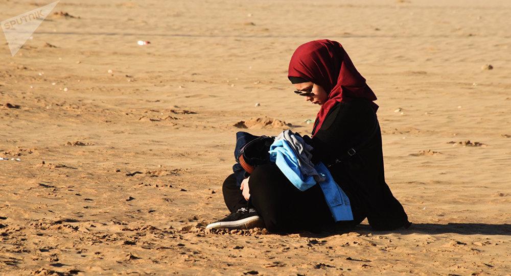 Une jeune fille. Maroc. Image d'illustration
