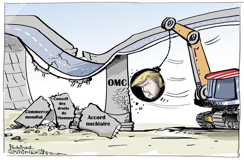 Donald Trump menace de retirer les États-Unis de l'OMC