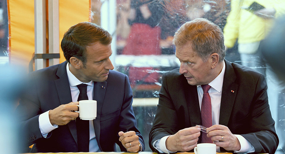 Emmanuel Macron et Sauli Niinisto