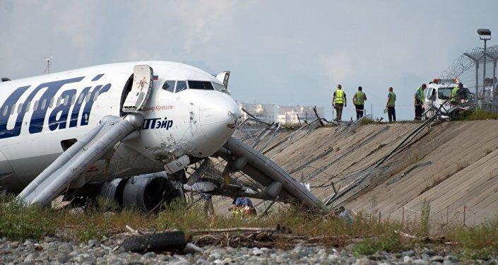 L'atterrissage d'urgence à Sotchi