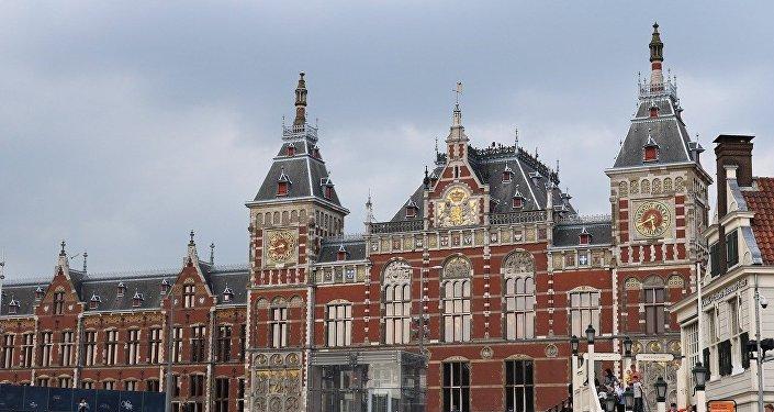 La gare centrale d'Amsterdam