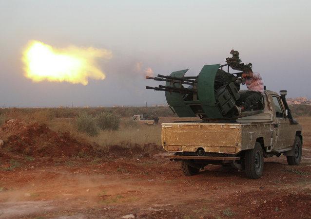 Des radicaux syriens dans le gouvernorat d'Idlib (image d'illustration)
