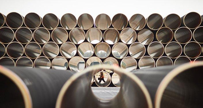 Tubes pour le gazoduc Nord Stream 2 (archives)