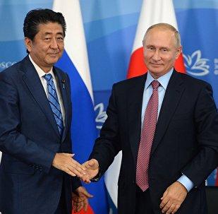 Vladimir Poutine et Shinzo Abe