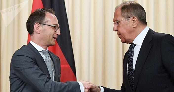 Heiko Maas et Sergei Lavrov