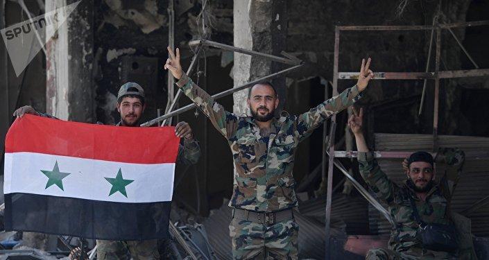 En territoire libéré des terroristes, en Syrie