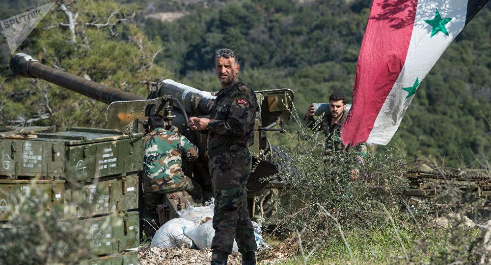 Idlib,un soldat syrien