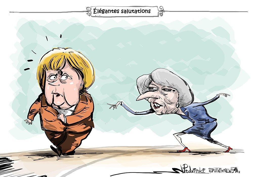 Angela Merkel a ostensiblement refusé de saluer Theresa May
