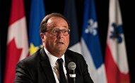François Hollande à Montréal