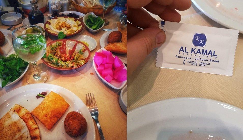 Dans un restaurant de Damas