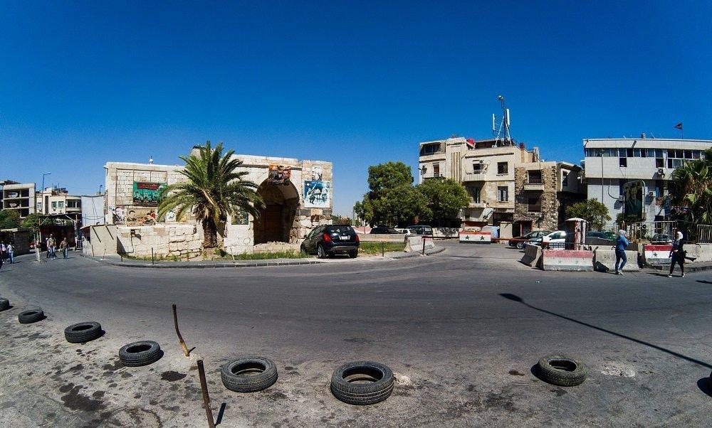 La place de Bab Touma à Damas
