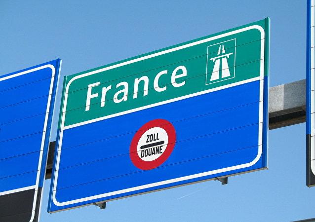 Panneau routier pour France